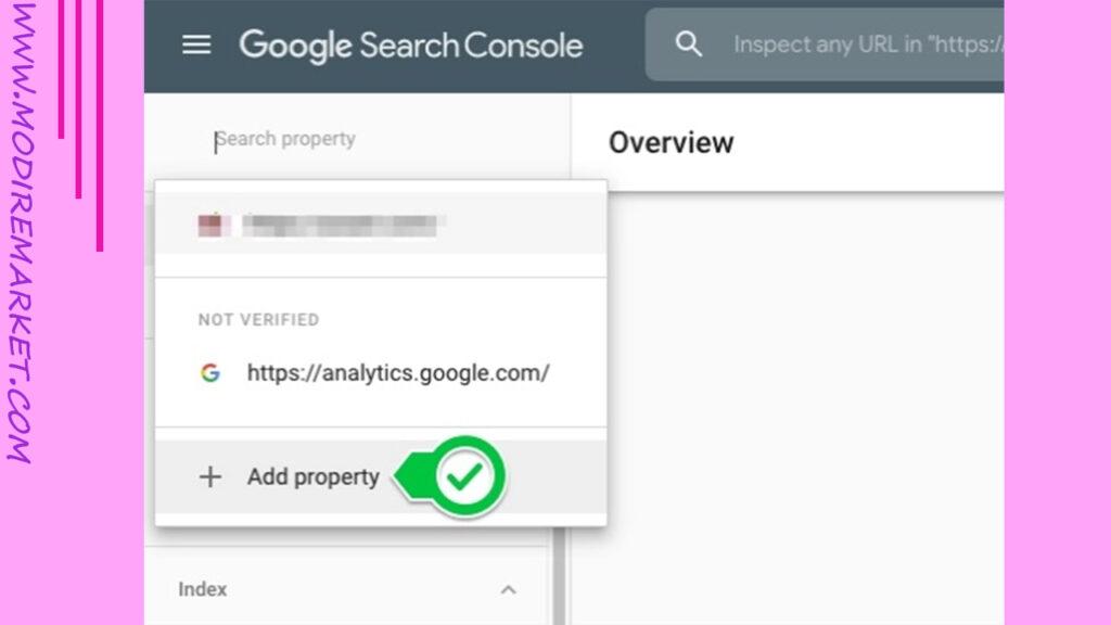 add a new property در گوگل سرچ کنسول